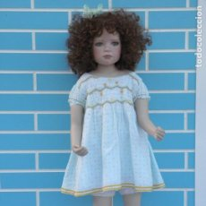 Bonecas Porcelana: MUÑECA NIÑA REALISTA GRACE DE CHRISTINE ORANGE, PARA COLECCIONISTAS. Lote 210418690