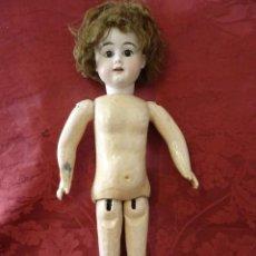 Muñecas Porcelana: MUÑECA DE PORCELANA CON MARCAS. 55CM.. Lote 210740421