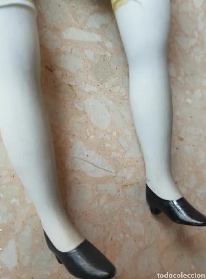 Muñecas Porcelana: Muñeca muñeco arlequín con cabeza, brazos y piernas de porcelana y cuerpo de trapo 42 cm. - Foto 5 - 210818475