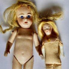 Muñecas Porcelana: DOS PEQUEÑAS MUÑECAS A RESTAURAR. Lote 210941242