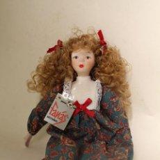 Muñecas Porcelana: MUÑECA DE PORCELANA FINA DE FANÁS ARTESANOS. Lote 211256184