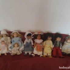 Muñecas Porcelana: NUEVE MUÑEQUITAS DE PORCELANA DE 15 CM. Lote 211485874