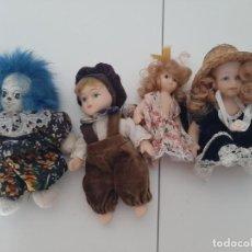 Bonecas Porcelana: LOTE DE 4 FIGURAS DE PORCELANA, ENTRE 8 Y 12 CM. Lote 213604176