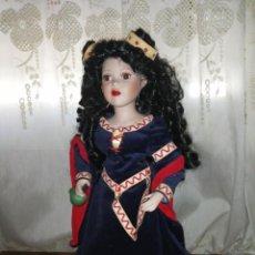 Muñecas Porcelana: DAMA DE PORCELANA CON VESTIDO MEDIEVAL. Lote 213669215