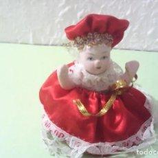 Muñecas Porcelana: ANTIGUA PEQUEÑA MUÑECA DE PORCELANA, AÑOS 60, PERFECTO ESTADO.. Lote 214853232