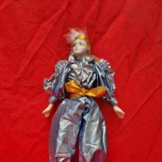 Bonecas Porcelana: MUÑECA DE TELA Y PORCELANA HECHA EN TAIWAN. Lote 215087680