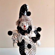 Bambole Porcellana: MUÑECO ARLEQUIN PORCELANA - 38.CM ALTO. Lote 216721053