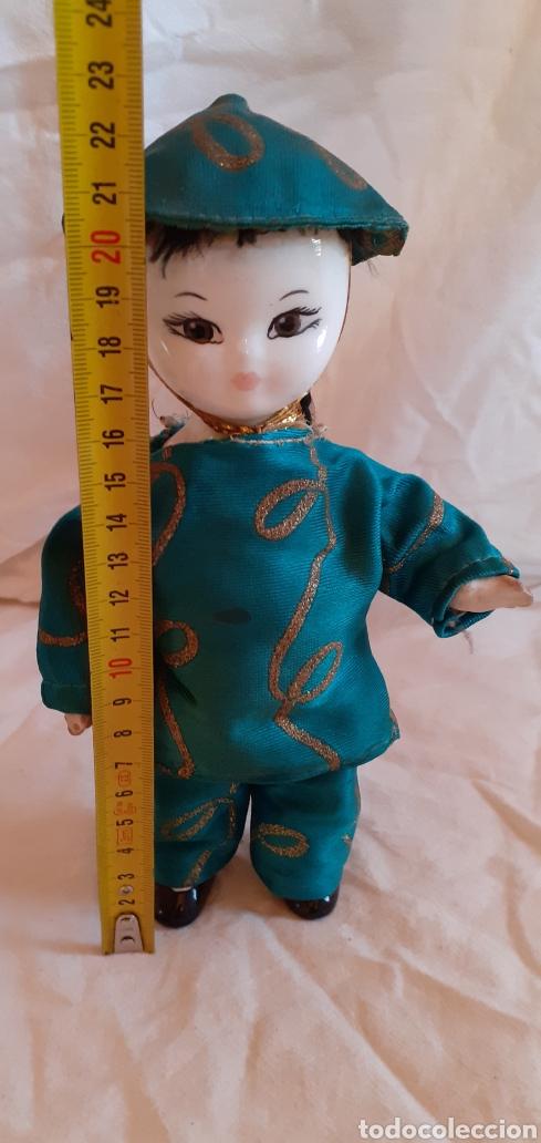 Muñecas Porcelana: FIGURA MUÑECO ORIENTAL CHINO O JAPONES DE CERAMICA O PORCELANA - Foto 2 - 217599771