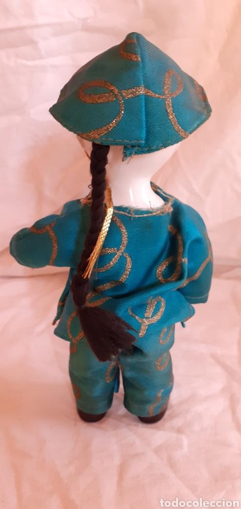 Muñecas Porcelana: FIGURA MUÑECO ORIENTAL CHINO O JAPONES DE CERAMICA O PORCELANA - Foto 4 - 217599771