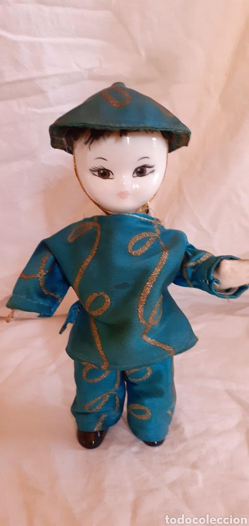 Muñecas Porcelana: FIGURA MUÑECO ORIENTAL CHINO O JAPONES DE CERAMICA O PORCELANA - Foto 6 - 217599771
