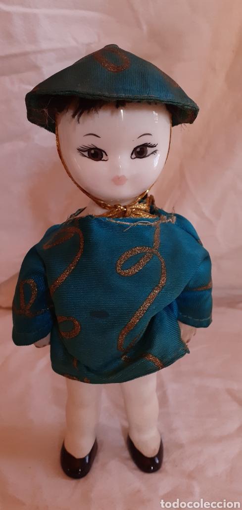 Muñecas Porcelana: FIGURA MUÑECO ORIENTAL CHINO O JAPONES DE CERAMICA O PORCELANA - Foto 7 - 217599771