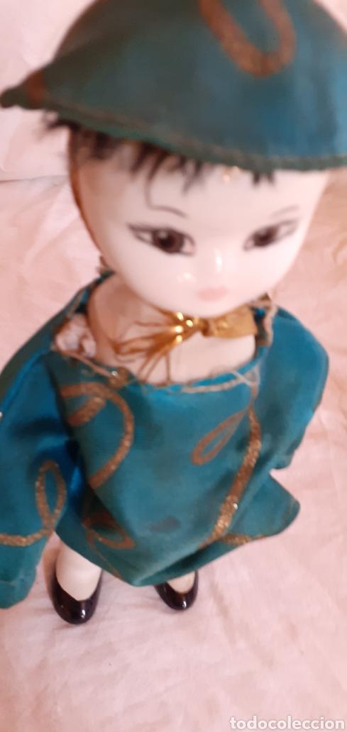 Muñecas Porcelana: FIGURA MUÑECO ORIENTAL CHINO O JAPONES DE CERAMICA O PORCELANA - Foto 15 - 217599771