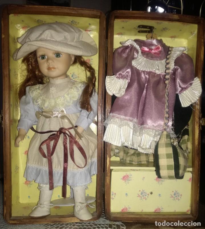Muñecas Porcelana: MUÑECA Y ROPERO. - Foto 4 - 218621835