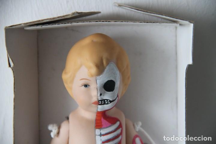 Muñecas Porcelana: Muñeco bebé de porcelana pintado a mano a lo figura anatómica. Pieza única. - Foto 2 - 218724323