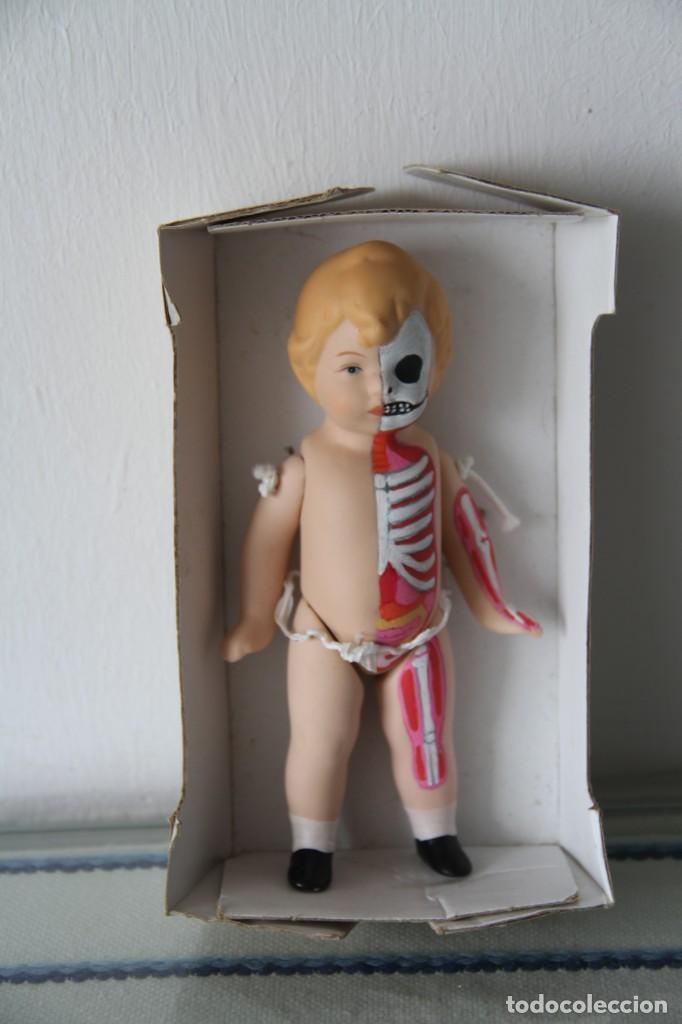 Muñecas Porcelana: Muñeco bebé de porcelana pintado a mano a lo figura anatómica. Pieza única. - Foto 4 - 218724323