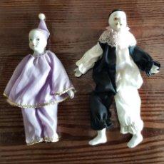 Muñecas Porcelana: MUÑECA Y MUÑECO PAYASOS. Lote 219921000