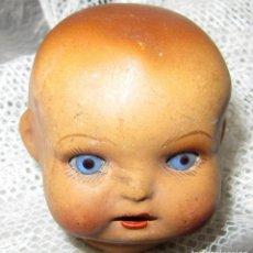 Muñecas Porcelana: CABEZA DE MUÑECA DE PORCELANA OJOS DE CRISTAL NUMERADA. Lote 221472253