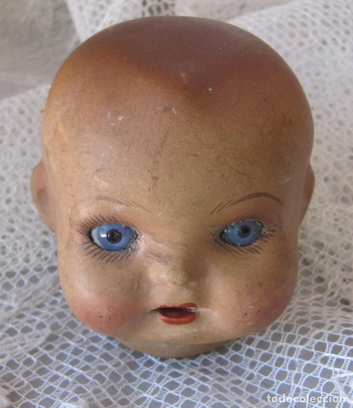 Muñecas Porcelana: cabeza de muñeca de porcelana ojos de cristal numerada - Foto 2 - 221472253