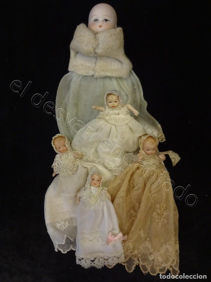 LOTE PEQUEÑAS MUÑEQUITAS DE CERÁMICA- ANTIGUAS (Juguetes - Muñeca Extranjera Moderna - Porcelana)