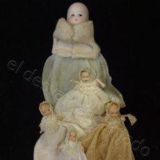 Muñecas Porcelana: LOTE PEQUEÑAS MUÑEQUITAS DE CERÁMICA- ANTIGUAS. Lote 221550000