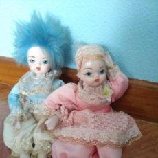 Muñecas Porcelana: PAREJA DE ARLEQUINES DE PORCELANA. Lote 221686601