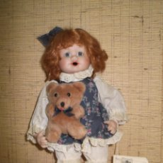 Muñecas Porcelana: MUÑECA DE PORCELANA PUPPENSTUBE GILDE HANDWERK,VINTAGE. Lote 221886678