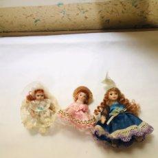 Muñecas Porcelana: LOTE MUÑECAS ANTIGUAS PORCELANA AÑOS 70 Y 80. Lote 222168508