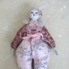 Muñecas Porcelana: MUÑECA CON LA CARA DE PORCELANA. Lote 222355555