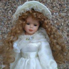 Muñecas Porcelana: PRECIOSA MUÑECA DE PORCELANA 41 CM APROXIDAMENTE. Lote 222809162
