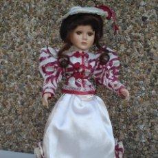 Muñecas Porcelana: PRECIOSA MUÑECA DE PORCELANA 41 CM APROXIDAMENTE. Lote 222810178