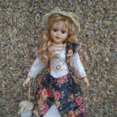 Muñecas Porcelana: PRECIOSA MUÑECA DE PORCELANA 42 CM APROXIDAMENTE. Lote 222810767