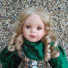 Muñecas Porcelana: PRECIOSA MUÑECA DE PORCELANA 40 CM APROXIDAMENTE. Lote 222817125