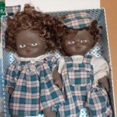 Muñecas Porcelana: PRECIOSA PAREJA DE MUÑECOS DE CERAMICA ARTICULADOS NIÑA Y ÑIÑO. Lote 222908602