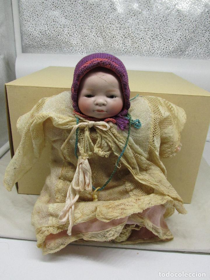 Muñecas Porcelana: Muñeca Grace S. Putnam con cesta y ropaje original de la época. - Foto 10 - 223625986