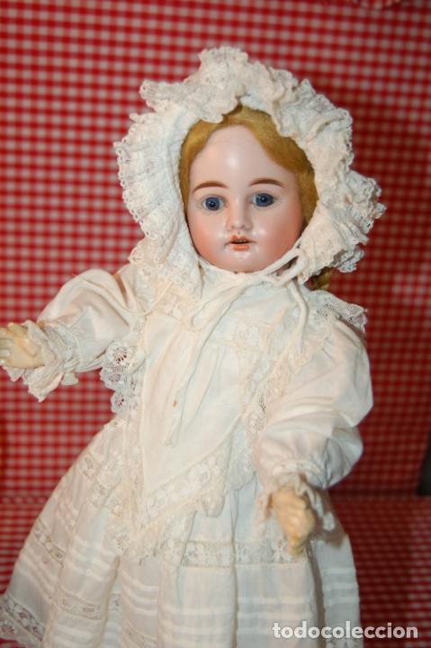 Muñecas Porcelana: muñeca antigua con carro y bebé - Foto 3 - 223785111