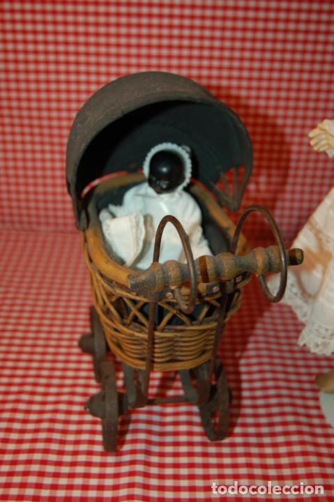 Muñecas Porcelana: muñeca antigua con carro y bebé - Foto 4 - 223785111