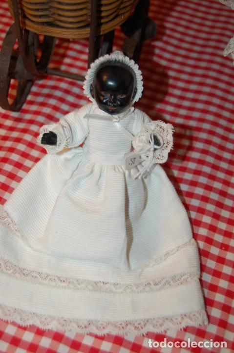 Muñecas Porcelana: muñeca antigua con carro y bebé - Foto 6 - 223785111