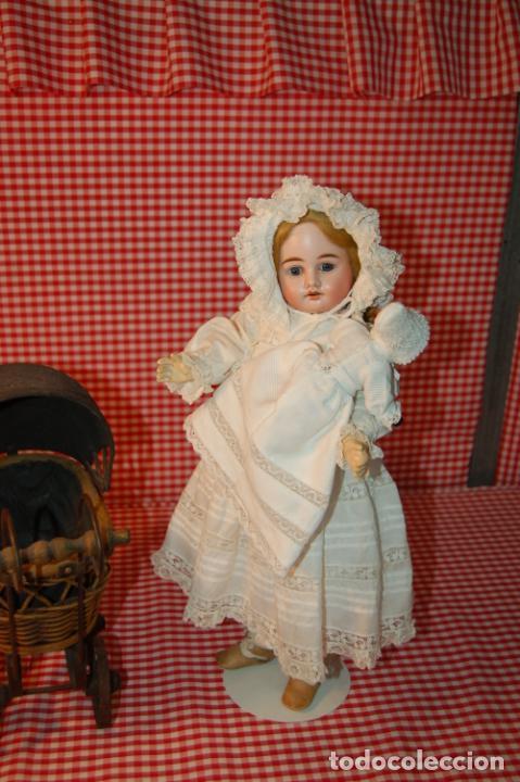 Muñecas Porcelana: muñeca antigua con carro y bebé - Foto 7 - 223785111