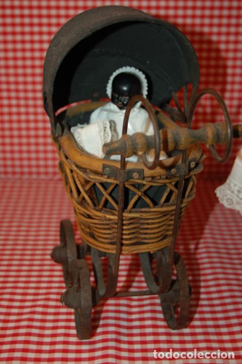 Muñecas Porcelana: muñeca antigua con carro y bebé - Foto 10 - 223785111