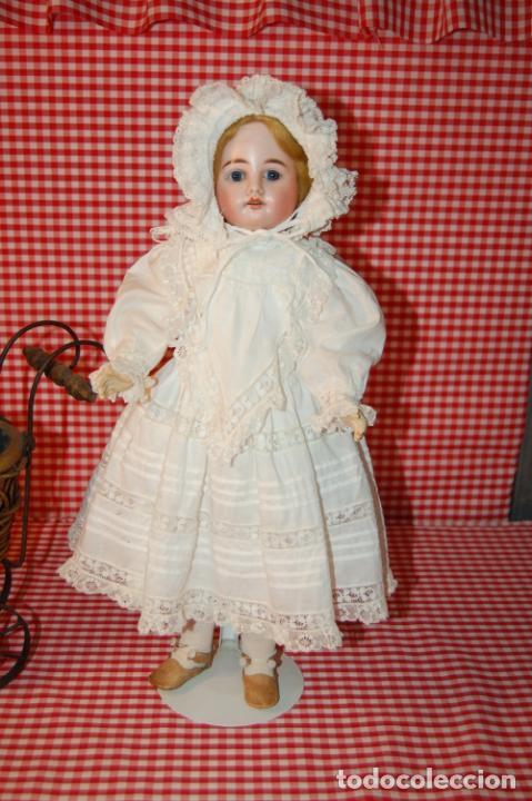 Muñecas Porcelana: muñeca antigua con carro y bebé - Foto 14 - 223785111