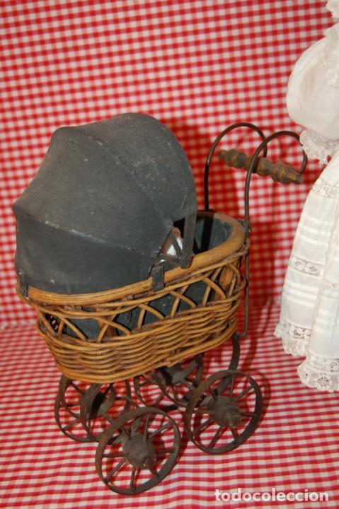 Muñecas Porcelana: muñeca antigua con carro y bebé - Foto 15 - 223785111