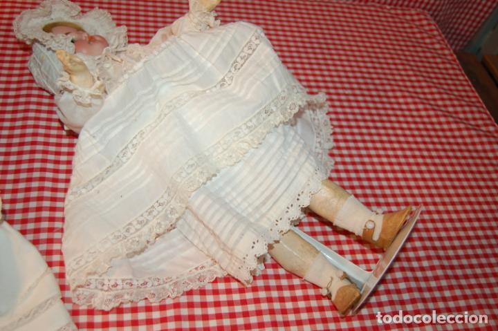 Muñecas Porcelana: muñeca antigua con carro y bebé - Foto 17 - 223785111