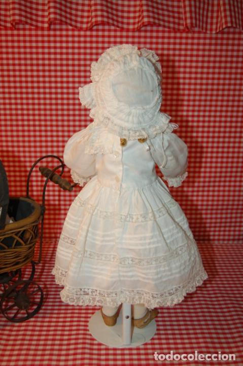 Muñecas Porcelana: muñeca antigua con carro y bebé - Foto 18 - 223785111