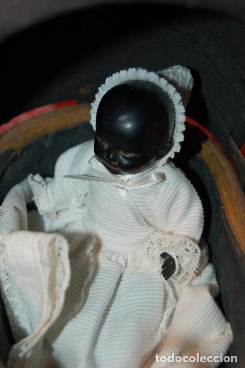 Muñecas Porcelana: muñeca antigua con carro y bebé - Foto 19 - 223785111