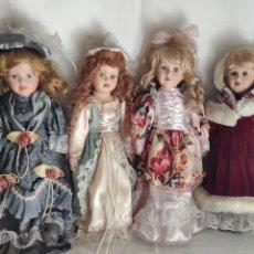 Muñecas Porcelana: LOTE MUÑECAS DE CERÁMICA, EPOCA. Lote 225136696