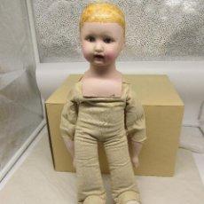 Muñecas Porcelana: MUÑECA ANTIGUA DE REPRODUCCIÓN EN PORCELANA. Lote 225555080