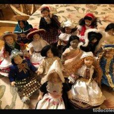 Muñecas Porcelana: LOTE MUÑECAS DE PORCELANA COLECCIÓN MUÑECAS DEL MUNDO. Lote 226734705
