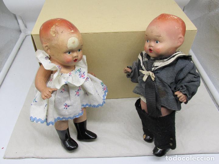 Muñecas Porcelana: Muñecas antiguas de porcelana años 20, se venden juntas. - Foto 2 - 227220565