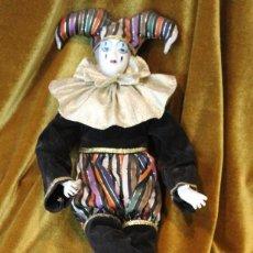 Muñecas Porcelana: PIERROT, PORCELANA Y TELA, 41 CM. Lote 231654120