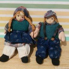 Muñecas Porcelana: PAREJA DE MUÑECOS DE PORCELANA CON CUERPO BLANDO. Lote 231845790